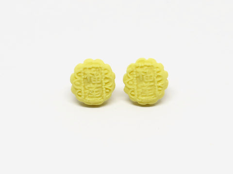 Mooncake Ear Studs (Assorted Colours)