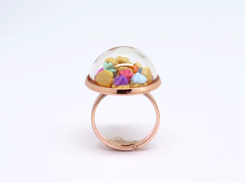 Iced Gems Globe Ring (Rose Gold)