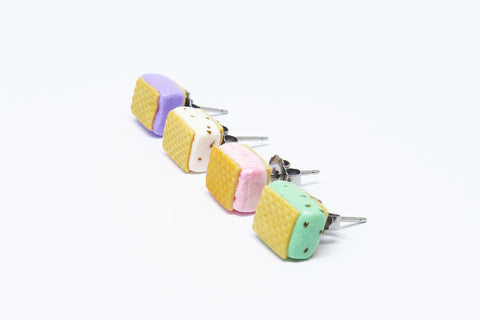 Singapore Miniature Food - Ice Cream Wafer Ear Studs