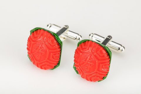 Ang Ku Kueh Cuff Links by Miniature Asian Chef