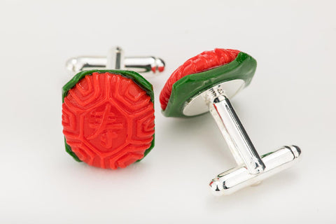 Ang Ku Kueh CuffLinks by Miniature Asian Chef