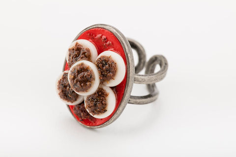 Miniature Singapore Food - Chwee Kueh Ring