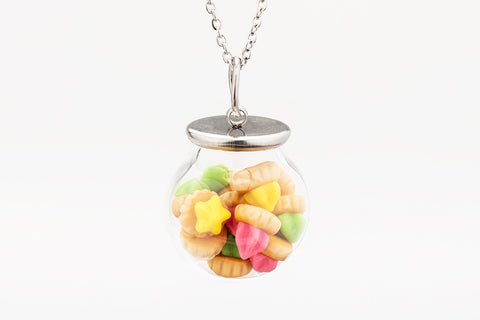 Miniature Iced Gem Globe Necklace (Classic)