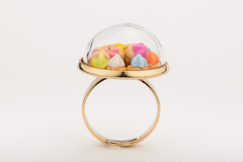 Iced Gems Globe Ring (Gold)