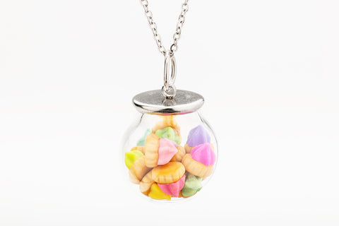 Iced Gem Globe Necklace (Multi Colour)