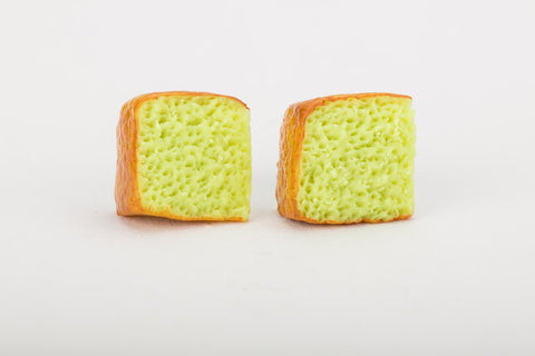 Singapore Pandan Cake Ear Studs By Miniature Asian Chef