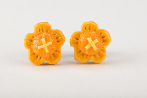 Sakura Pineapple Tart Ear Studs