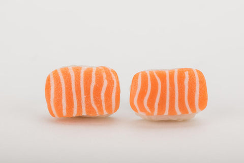 Miniature Salmon Sushi Ear Studs