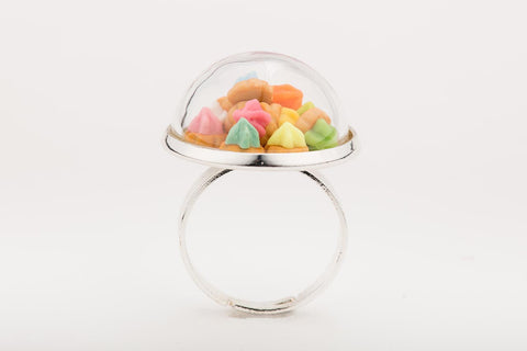 Iced Gems Globe Ring (Silver)