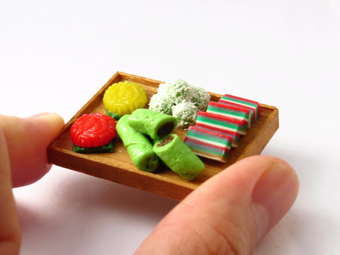 Miniature Singapore Food Kueh Platter
