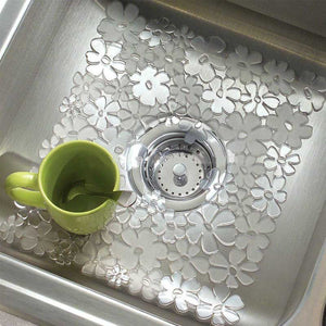 FlashSpree.com: 3-Pack Floral Anti-Slip Sink Mat by Evri