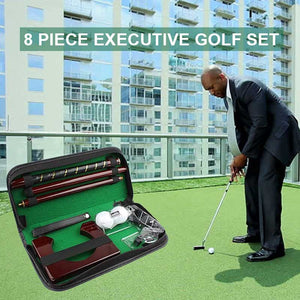 FlashSpree.com: 8-Piece Executive Portable Golf Set by FlashSpree