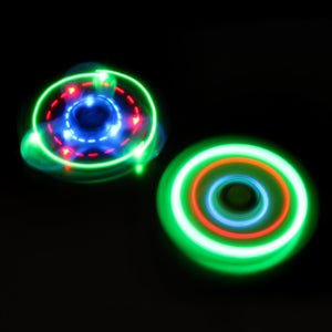Crystal Flashing Patterns LED Fidget Spinner Bluetooth Speaker With Charging Cable