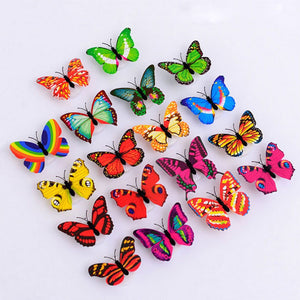 3D Glowing LED Butterfly Decor Night Light Lamp (10-Pack)