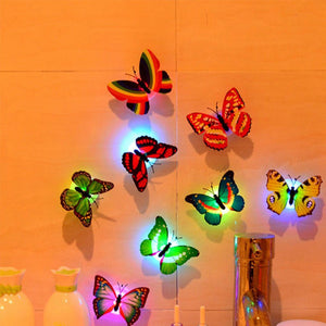 Glowing LED Butterfly Decor Night Light Lamp (10-Pack)