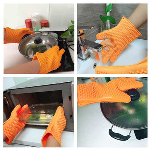 FlashSpree.com: Silicone Insulated Heat Resistant Gloves For Indoor & Outdoor Cooking by FlashSpree