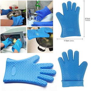 Silicone Insulated Heat Resistant Gloves For Indoor & Outdoor Cooking