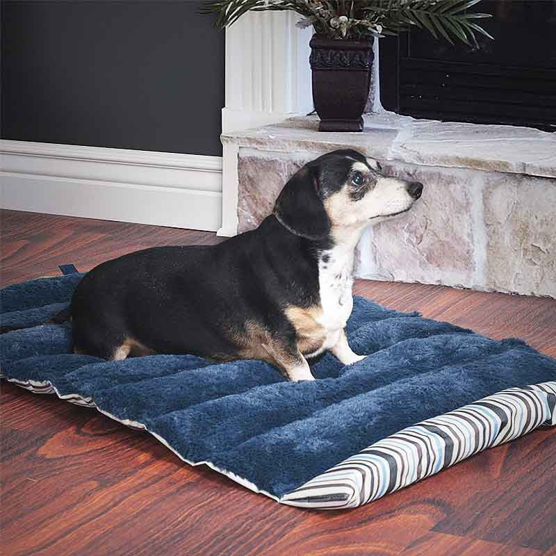 soft durable roll up travel pet bed with carry handle flashspree com