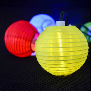 FlashSpree.com: Solar Powered Garden Lantern String Lights (10 Piece) by GardenDepot