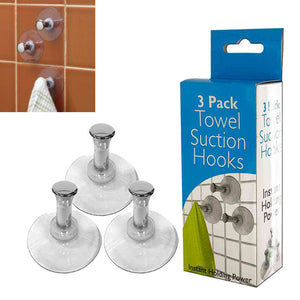FlashSpree.com: Towel Suction Hooks Set (3 Piece) by FlashSpree