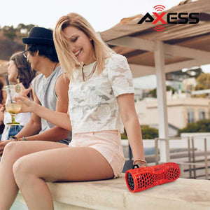 Axess Portable Water-Resistant Bluetooth Speaker with Speakerphone