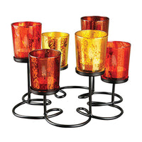 Decorative Wire Pedestal Candle Holder