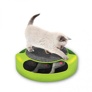 FlashSpree.com: Cat Scratch Pad Spinning Toy with Mouse by Handy Helpers