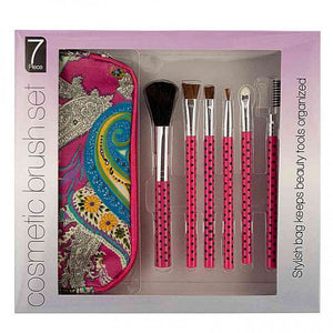 FlashSpree.com: Cosmetic Brush Set with Carrying Case by Handy Helpers