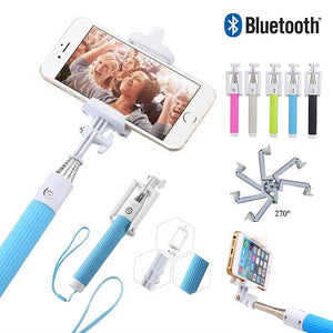 FlashSpree.com: Extendable And Foldable Wireless Selfie Stick With Built-in Bluetooth Shutter Button by FlashSpree