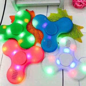 Pink / Blue / White / Green | LED Fidget Spinner Bluetooth Speaker