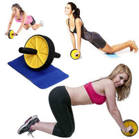 FlashSpree.com: Fitness Ab Wheel Roller With Cushioning Floor Pad by Fitness