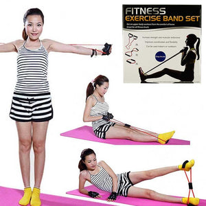 FlashSpree.com: 4-Piece Fitness Exercise Band Set with Storage Bag by Fitness
