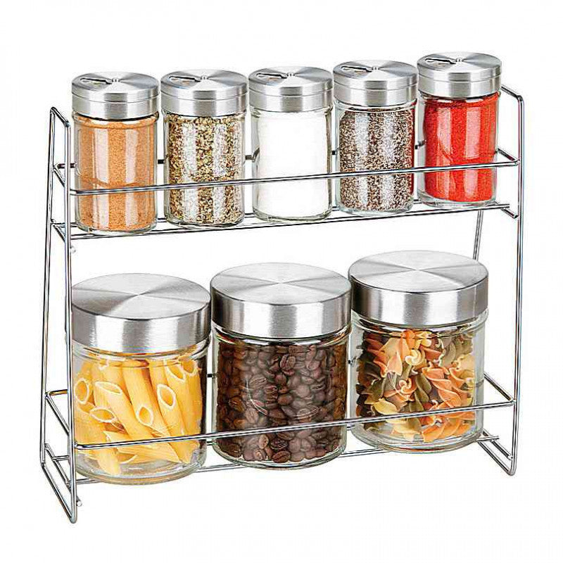 glass canister spice jar set - Glass Spice Jars