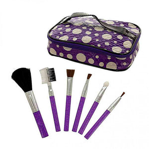 FlashSpree.com: Glitter Cosmetic Brush Set with Carrying Case by Handy Helpers