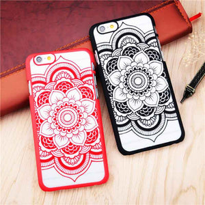 Beautiful Floral Henna Paisley Mandala Palace Flower Phone Case For iPhone 6 Plus / 6s Plus