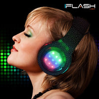 FlashSpree.com: iFlash AF700 Dynamic LED Light-up Foldable HQ Stereo Bluetooth Headphones by iFlash USA