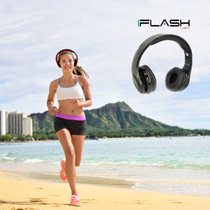 FlashSpree.com: iFlash AR700 Solar Rechargeable Foldable HQ Stereo Bluetooth Headphones by iFlash USA