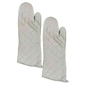 FlashSpree.com: Large Silver Oven Mitts Set by Handy Helpers