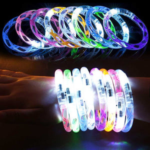 Helical Burr Glowing LED Bracelets (6-Pcs)