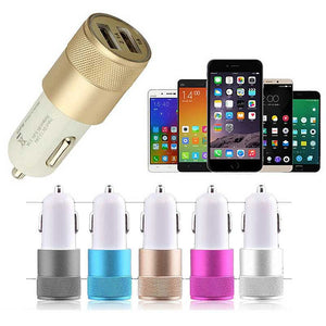 FlashSpree.com: Metal Alloy Shell Universal 2.1A Dual USB 2 Port Car Charger by FlashSpree