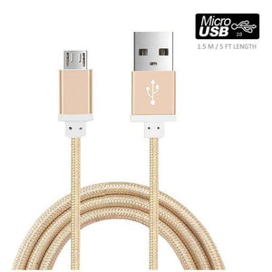 FlashSpree.com: Nylon Braided Aluminum 1.5M Micro USB Data Charging Cable by Sovawin