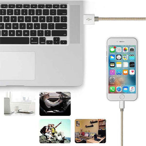 FlashSpree.com: Nylon Braided Aluminum 1.5M USB Lightning Data Charging Cable by Sovawin