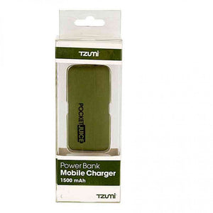 FlashSpree.com: Olive Green Pocket Juice Rechargeable 1500 mAh Power Bank by Tzumi Electronics