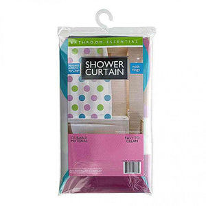 FlashSpree.com: Shower Curtain with Rings Set Polka Dots by Handy Helpers