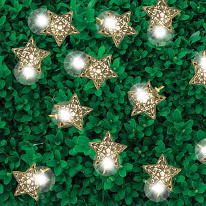 FlashSpree.com: 12-Piece Silver Star LED Solar String Lights by GardenDepot
