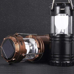 Solar Powered Rechargeable Camping Emergency Lantern Lamp