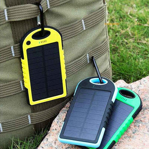 FlashSpree.com: Solar Panel Charging Dual USB 5000mAh Waterproof Power Bank With LED Flashlight by FlashSpree