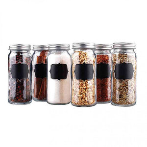 FlashSpree.com: Spice Jar Set with Erasable Chalkboard Labels by Handy Helpers