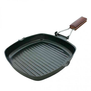 FlashSpree.com: Square Griddle Pan with Wooden Handle by Handy Helpers