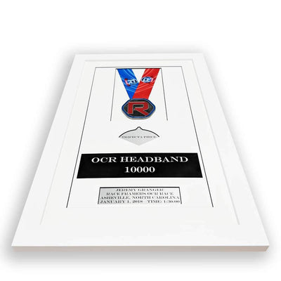 "Race Framers 12"" Wide By 20"" Tall OCR Medal, Trifecta Piece And Headband Display Frame"